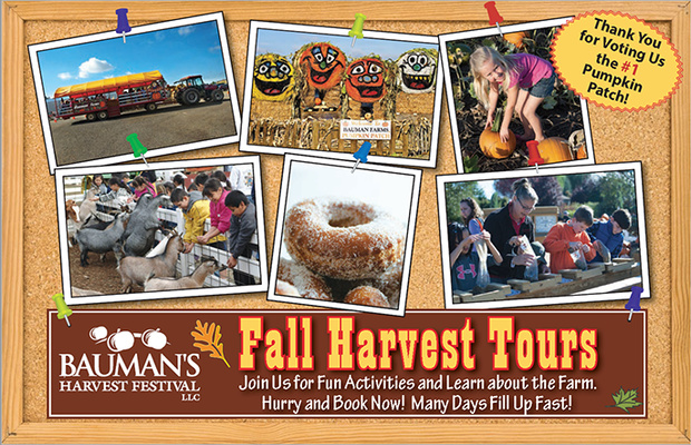 Fall harvest school tours at Bauman's Harvest Festival - Oregon