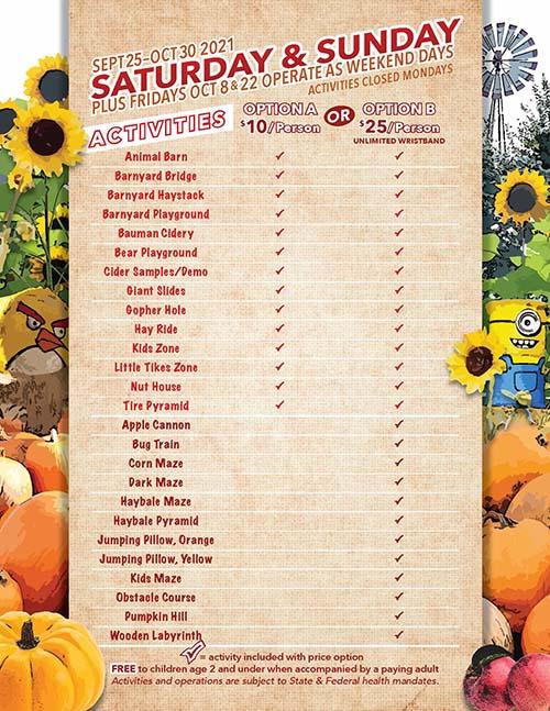 2021 Bauman's Harvest Festival Weekend